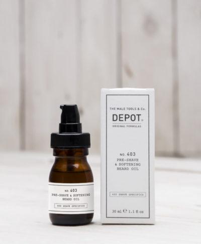Depot NO 403 Масло перед бритьем и для смягчения бороды