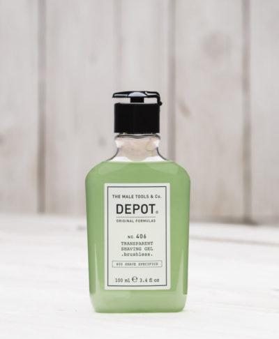 Depot NO 406 Гель для бритья без пены / Без помазка