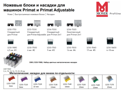 Moser нож 1230 1233 Primat Adjustable