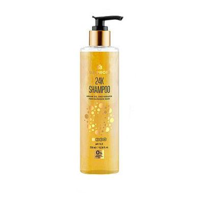 UA Profi Шампунь 24К с маслом арагании и кератином для поврежденных волос 250 мл
