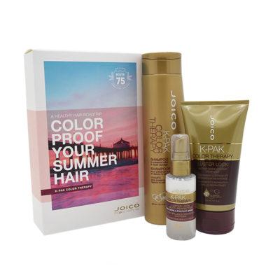 Joico летний набор K-Pak CT (восстановление окрашенных волос: шампунь 300 мл + маска Luster Lock 140 мл+ мультиперфектор 50 мл)