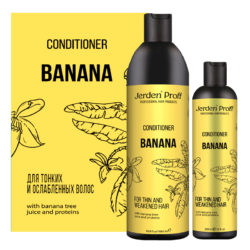 Jerden Proff кондиционер для волос c соком бананового дерева и протеином Banana, 1000 мл