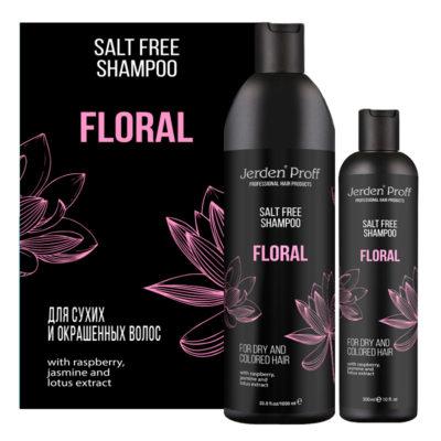Jerden Proff бессолевой шампунь для волос Floral, 300/1000 мл