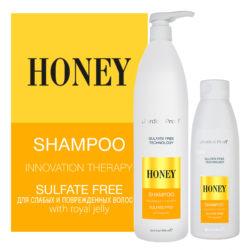 Jerden Proff шампунь для волос бессульфатный Honey, 300/1000 мл