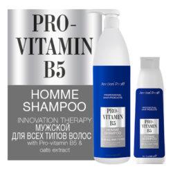 Jerden Proff мужской шампунь для волос с Pro-Vitamin B5, 1000 мл